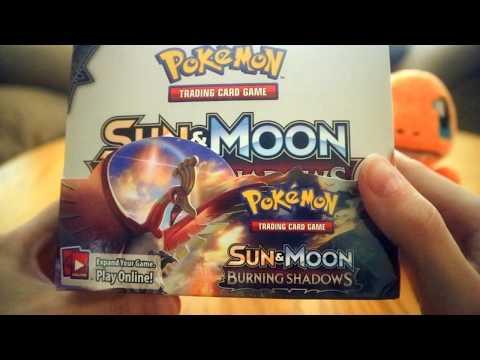 Relaxing Whispered Pokemon Burning Shadows Booster Box Opening (For ASMR)