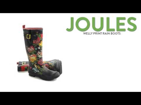 Joules Printed Welly Rain Boots - Waterproof (For Women)