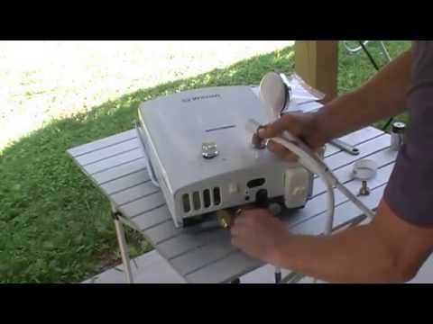Wilson instant gas hot water heater.Great for camping