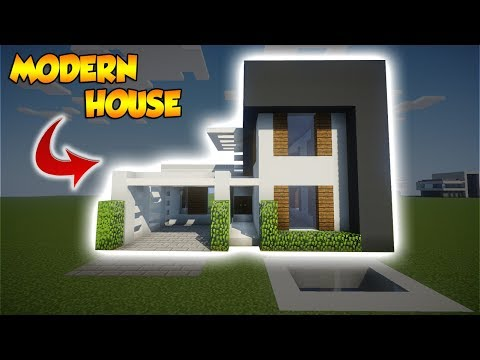 Minecraft: Realistic Modern House Tutorial - How to build a Large Modern House in Minecraft