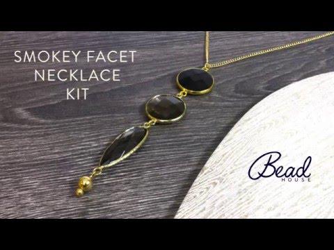 Smokey Facet Necklace Kit - DIY Quick Make - Bead House