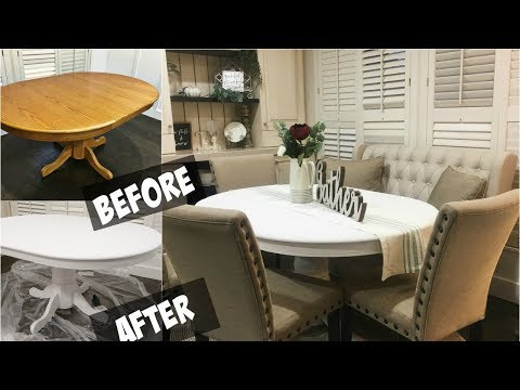 DIY Chalkboard paint Dining room table