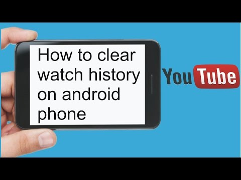 how to clear youtube watch history on android phone