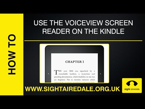 How to make your Kindle read books to you using VoiceView