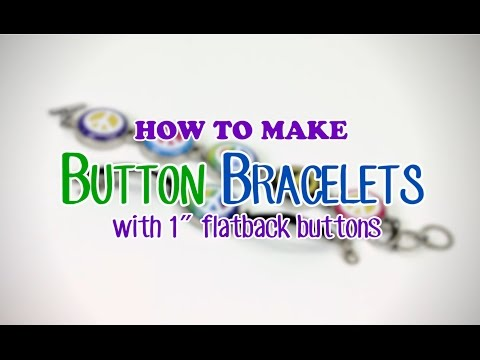 How to Make Button Bracelets with Interchangeable 1