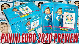 PANINI EURO 2020 PREVIEW STICKER COLLECTION ⚽ 60 PACKS BOOSTER BOX ⚽ | UNBOXING