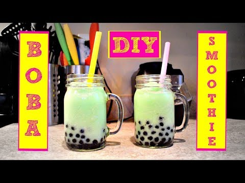 How To Make A Boba Smoothie    Bubble Tea Smoothie