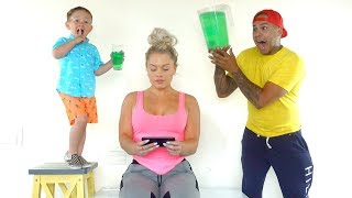 SLIME PRANK ON MOM!! (his first prank ever)