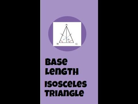 Finding the base of an isosceles triangle-Geometry Help