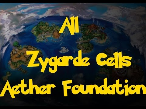 All Zygarde Cells: Aether Foundation (Pokemon Sun/Moon)