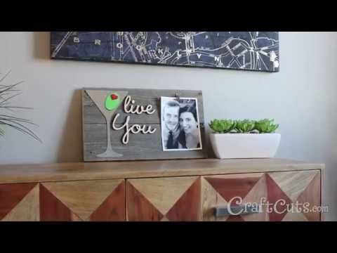 Olive You Reclaimed Wood Photo Holder - DIY