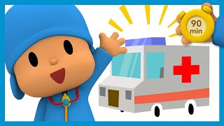 🏥 POCOYO AND NINA - Visit to the Doctor [90 minutes] | ANIMATED CARTOON for Children | FULL episodes