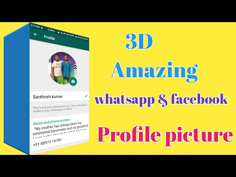 3D Amazing look Your Whatsapp & Facebook profile picture