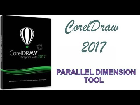 COREL DRAW 2017 USING PARALLEL DIMENSION TOOL HINDI URDU PART 25