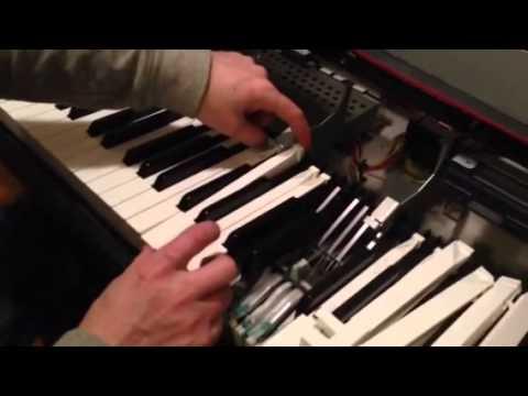 How to Repair Sticking Piano Keys on a Yamaha Clavinova model CVP 96