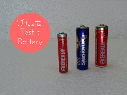 How to Test/Check a 1.5V Battery(AAA, AA) using Digital Multimeter