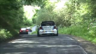 Jari-Matti Latvalla driving VW Polo R WRC car through Trier during Rallye Deutschland 2013
