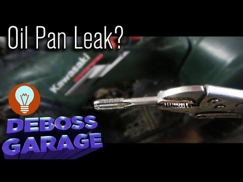 How To Fix An Oil Pan Drain Plug Leak in a Quad