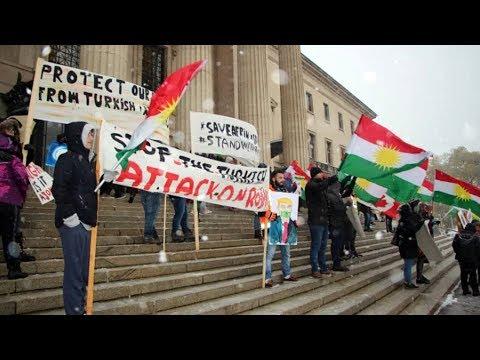Xxx Mp4 Kurdish Canadians Protest Against Turkish Military Attacks In Syria 3gp Sex