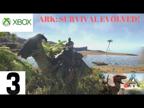 (Xbox One) ARK: Survival Evolved [3] Taming a Parasaur!