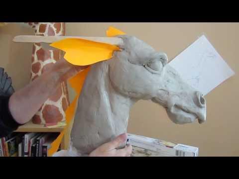 Paper Mache Dragon 2 - Clay Head Form