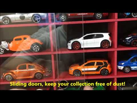 Display case cabinet for 1/64 diecast scale cars (hot wheels, matchbox) - 100NBR-3