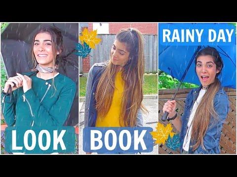 Rainy Day Lookbook | 3 Hair and Outfit Ideas