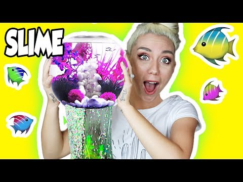 REAL SLIME AQUARIUM WITH CLEAR SLIME! HOW TO MAKE A SLIME FISH TANK! So Satisfying!