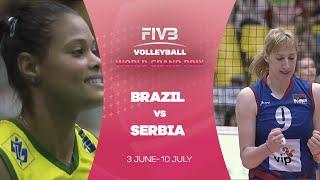 Brazil v Serbia highlights - FIVB World Grand Prix