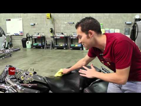 How To Clean & Condition Motorcycle Leather - Chemical Guys Harley Davidson