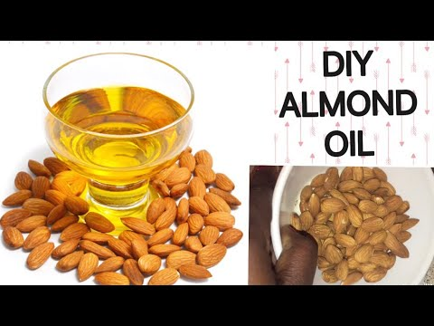 HOW TO MAKE ALMOND OIL AT HOME / DIY ALMOND ESSENTIAL OIL / FOR FAIR SKIN & HAIR