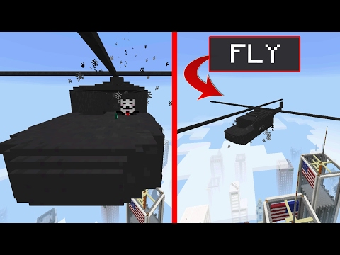 FLY HELICOPTERS in Minecraft Pocket Edition!!! (Fly Helicopter Mob Addon)