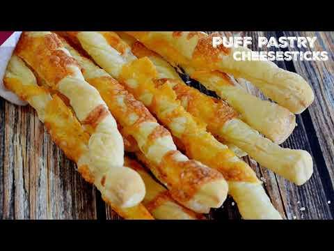 Semi Homemade Puff Pastry Cheese Sticks