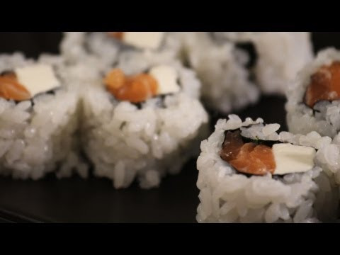 How to Make Sushi Rolls w/ Cream Cheese | Sushi Lessons