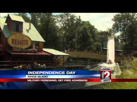 Military personnel get free admission to Kings Island on holiday weekend
