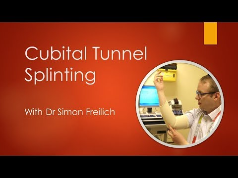 Cubital tunnel syndrome splinting