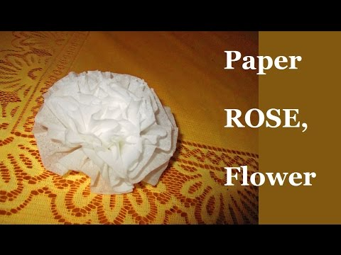 How to Make Child Easy Tissue PAPER ROSE | Flower for Beginners Step by Step