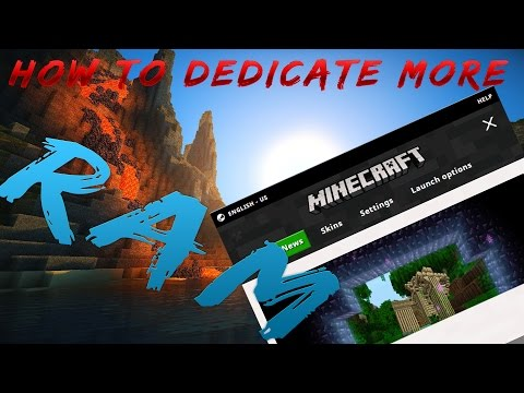 How To Dedicate More Ram to your minecraft (New Launcher)