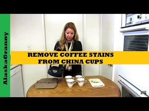 How To Remove Coffee Stains From China Cups