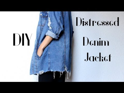 DIY Distressed Denim Jacket - Ripped Bottom| Easy Tutorial ~ CillasMakeup88