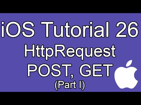 iOS Tutorial - Part 26 - HttpRequest POST, GET (NSURLConnection) I