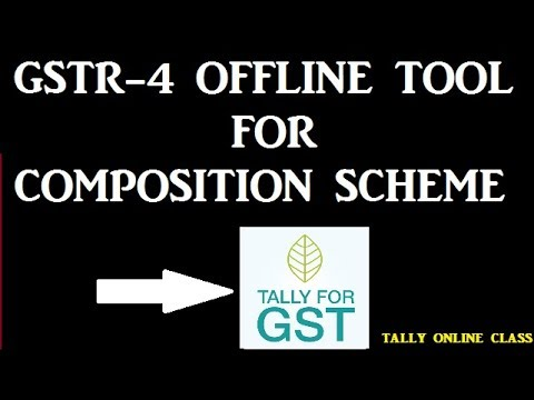 GSTR-4 Return Filling  For Composition Dealer/GSTR-4 Offline Utility