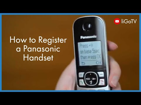 How To Register a Panasonic Handset