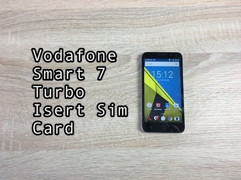 How to insert sim card into Vodafone Smart 7 Turbo