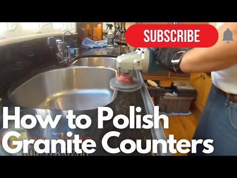 How to Polish Granite Counters - DIY Granite Polishing