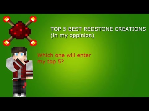 TOP 5 BEST REDSTONE CREATIONS (in my oppinion)