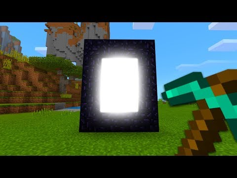 ENTERING A NEW DIMENSION IN MINECRAFT (MCPE Realms Survival Ep. 3)