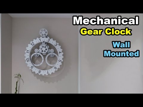 Mechanical Gear Wall Clock