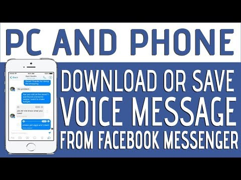 How save your voice massage on Facebook pc and phone