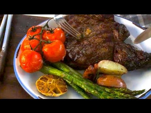 Rib Eye Steaks & Garlic Veggies with Nathan Lippy - Grill This